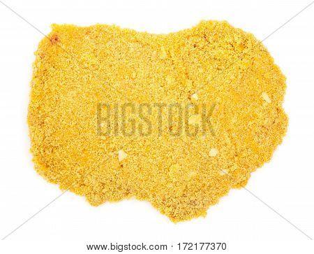 Raw Breaded Chicken Schnitzel Slice