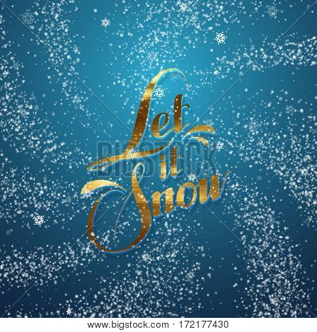 Snowy background. Vector Christmas illustration of snowflakes and sparkles. Whirlpool or snow burst of snowflakes and sparkling particles. Holiday decoration element for design