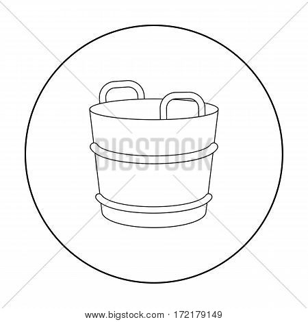 Milk bucket icon outline. Single bio, eco, organic product icon from the big milk outline stock vector