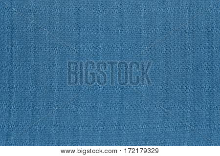 abstract texture and background of textile material or fabric of blue color