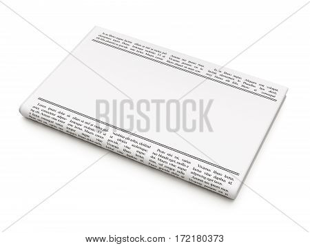 Law concept: newspaper headline Industrial Property and Paragraph icon on White background, 3D rendering