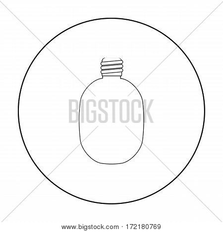 Army canteen icon in outline style isolated on white background. Military and army symbol vector illustration