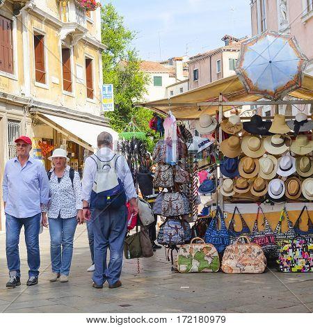 Venice, Italy, June, 21, 2016: street shop in Venice, Italy