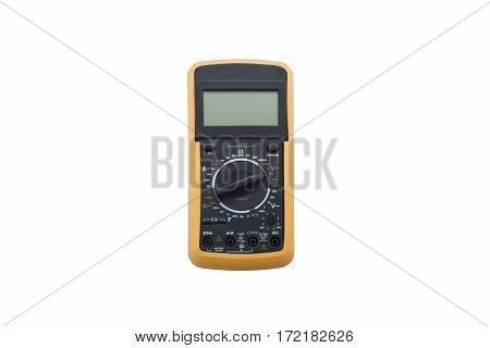 Digital multimeter wirelessly isolated on white background