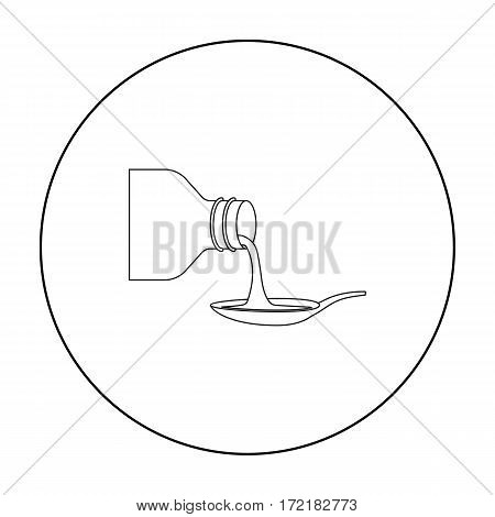 Medicines icon outline. Single medicine icon from the big medical, healthcare outline stock vector