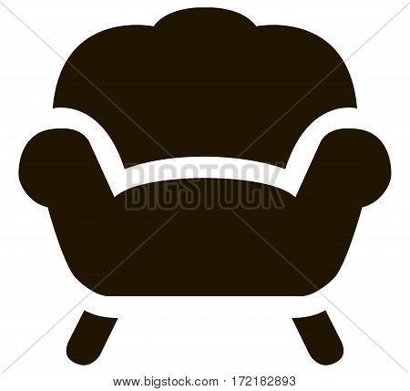 Vector illustration of simple black armchair icon