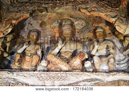 Yungang Grottoes, ancient Chinese Buddhist temple grottoes