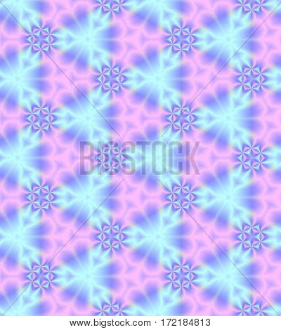Abstract light blue and pink tile pattern Cyan and magenta tiled texture background Seamless illustration