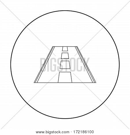 Road icon of vector illustration for web and mobile design