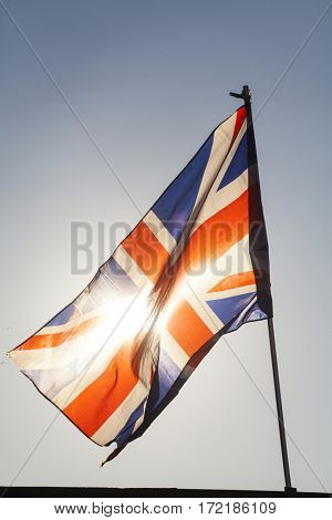 Close up on UK flag