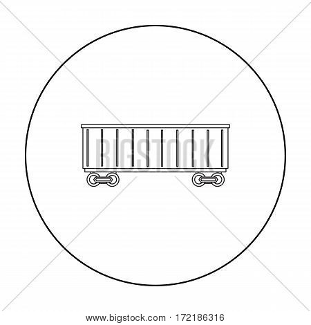 Railway carriage icon of vector illustration for web and mobile design