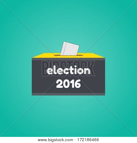 Badge Election 2016. Vevtor illustration of election concept