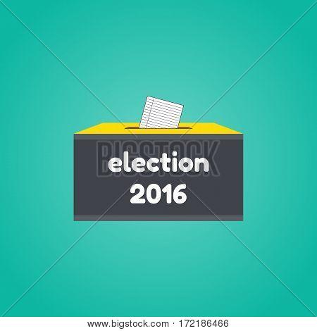 Badge Election 2016. Vevtor illustration of election concept