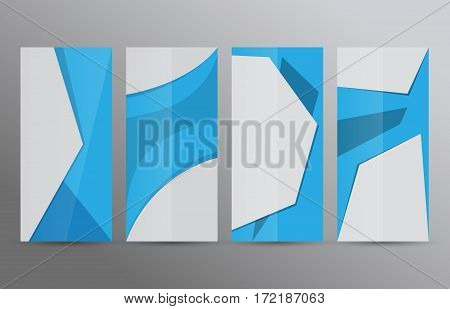 Set Vertical Banners Blue Background02