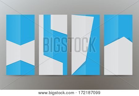 Set Vertical Banners Blue Background03