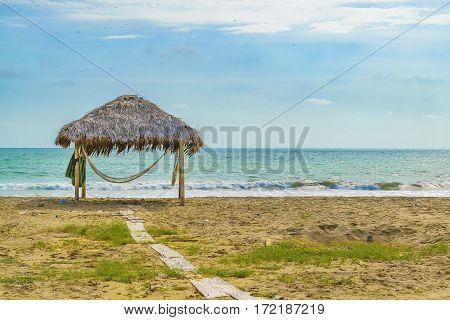 Empty Beach Engabao Ecuador