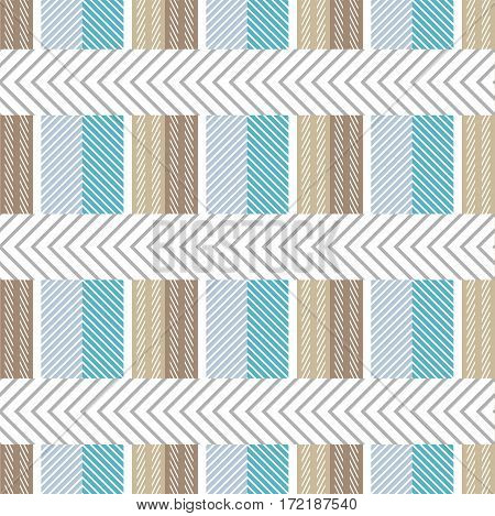 Checkered print with and chevron elements. Design for tablecloth, napkins, shirts, suits. Classical retro collection.