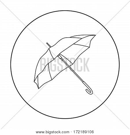 Parasol icon in outline style isolated on white background. Golf club symbol vector illustration.