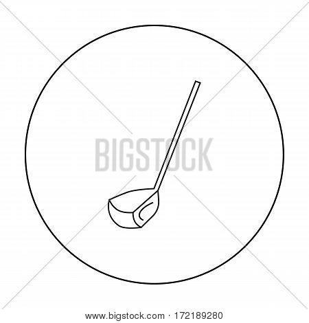 Golf club icon in outline style isolated on white background. Golf club symbol vector illustration.