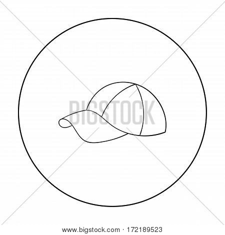 Golf cap icon in outline style isolated on white background. Golf club symbol vector illustration.