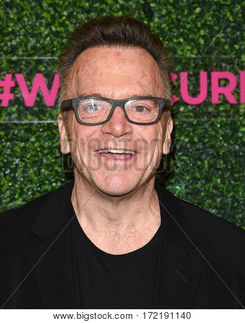 LOS ANGELES - FEB 16:  Tom Arnold arrives for the An Unforgettable Evening on February 16, 2017 in Beverly Hills, CA