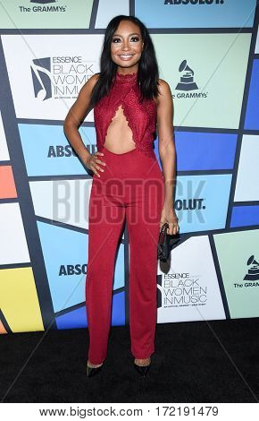 LOS ANGELES - FEB 09:  Malina Moye arrives for the ESSENCE 8th Annual Black Women In Music on February 9, 2017 in Hollywood, CA
