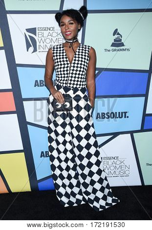 LOS ANGELES - FEB 09:  Janelle Monae arrives for the ESSENCE 8th Annual Black Women In Music on February 9, 2017 in Hollywood, CA