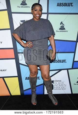 LOS ANGELES - FEB 09:  Nicci Gilbert arrives for the ESSENCE 8th Annual Black Women In Music on February 9, 2017 in Hollywood, CA