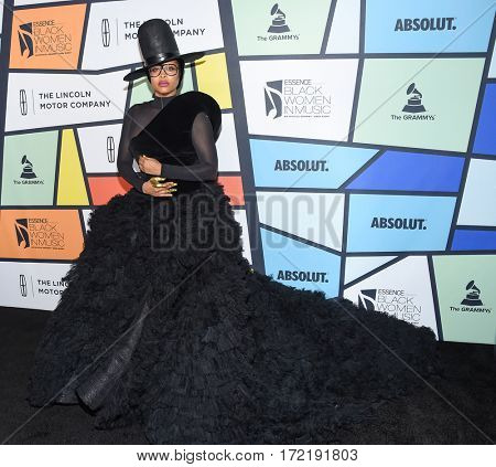 LOS ANGELES - FEB 09:  Erykah Badu arrives for the ESSENCE 8th Annual Black Women In Music on February 9, 2017 in Hollywood, CA