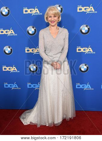 LOS ANGELES - FEB 04:  Helen Mirren arrives for the 69th Annual DGA Awards on February 4, 2017 in Beverly Hills, CA