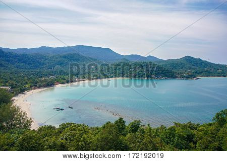 View of Thong Nai Pan Noi Bay on Phangan, Thailand
