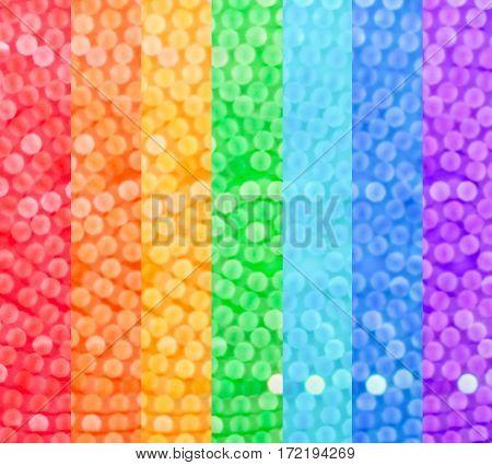 Rainbow Bokeh Blurry Background.