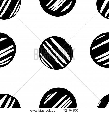 Abstract vintage seamless pattern. Organic shape circles. Memphis style vector illustration. Clipping mask used.