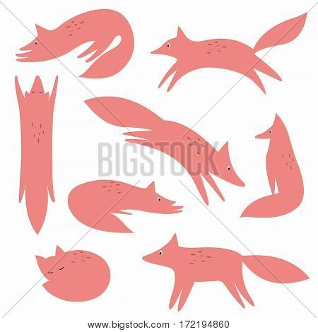 Stylized fox. Vector collection for your design