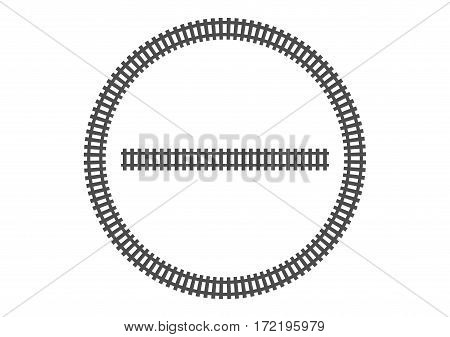 locomotive railroad track frame rail transport background border silhouette banner transport illustration