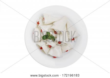 nadugi traditional Georgian dish white background top view