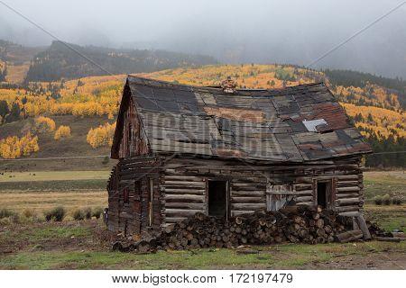 Rustic mountain cabin near Crested Butte, Colorado