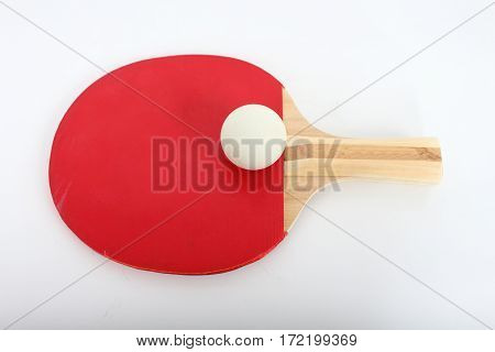 table Tennis on a white background Looked beautiful