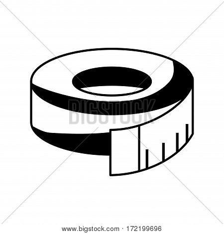 tape measure isolated icon vector illustration design