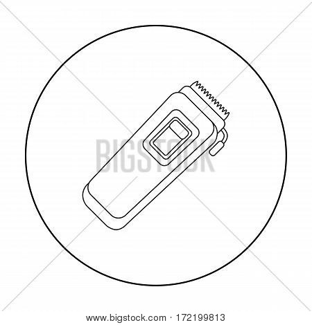 Electrical trimmer icon in outline style isolated on white background. Hairdressery symbol vector illustration.