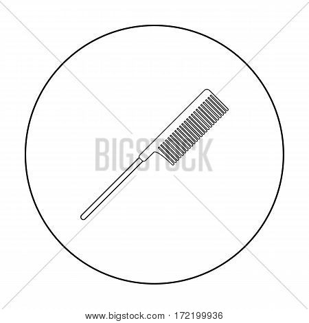 Hair comb icon in outline style isolated on white background. Hairdressery symbol vector illustration.