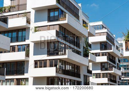 Modern blocks of flats seen in Berlin, Germany