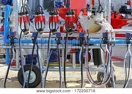 Portable Milking Station Dairy Equipment at Farm