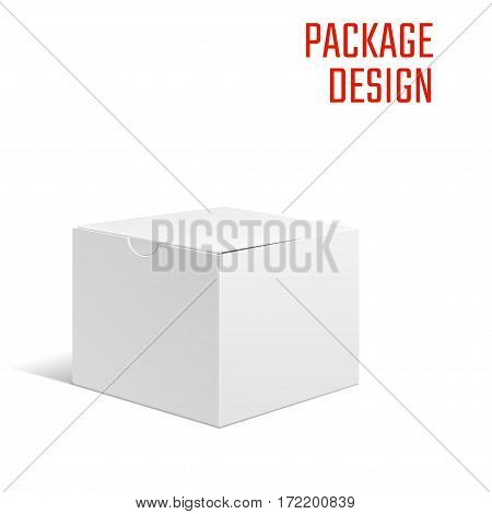 Vector Illustration of Gift craft Box isolated for Design, Website, Background, Banner. Folding package Template. Fold pack mockup for your brand on it