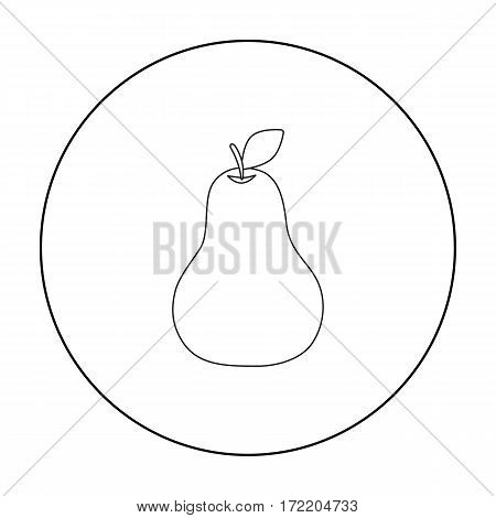 Pear icon outline. Singe fruit icon from the food outline.