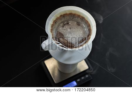 Pour Over Or Hand Drip Coffee