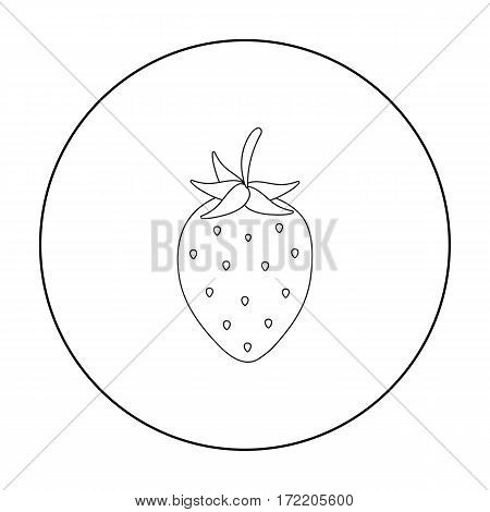 Strawberry icon outline. Singe fruit icon from the food outline.
