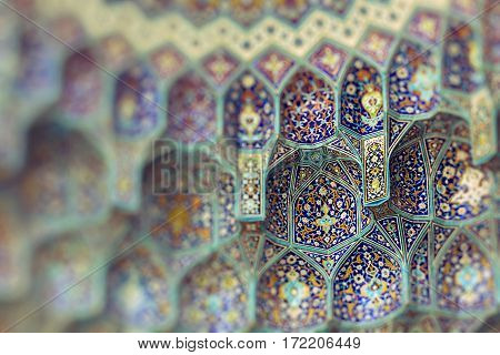 Details of Sheikh Lotfollah Mosque in Isfahan Iran