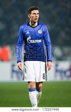 Uefa Europa League Match Between Paok Vs Schalke Played At Toumba Stadium