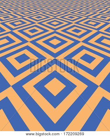 Abstract background with perspective. Tiled floor. Vector illustration